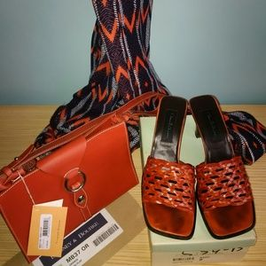 David Aaron NAIVE sandals - ORANGE 8M